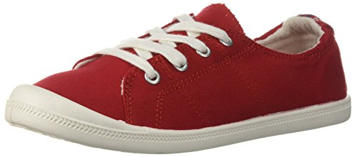 Madden Girl Women's Baailey Sneaker, Red Canvas, 7 M US
