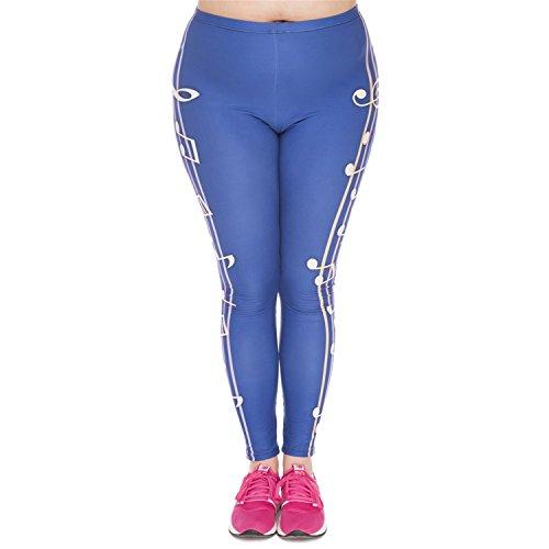Kaur Fashion Leggings Color Music Printed High Waist Leggings Plus Size Fashion Trousers Stretch Pants Women,OneSize,for Grandfather
