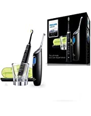 Philips Sonicare DiamondClean Sonic Electric Rechargeable Toothbrush and AirFloss Pro/Ultra-Interdental Cleaner with 1 Nozzle