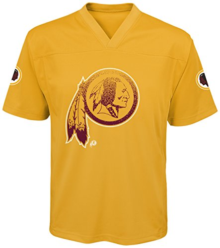 (Outerstuff NFL Washington Redskins Youth Boys Color Rush Fashion Top, X-Large (18), University Gold)