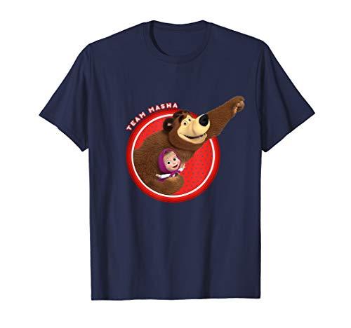 Masha and the Bear T-shirt Team Masha (Masha And The Bear English Full Episodes)