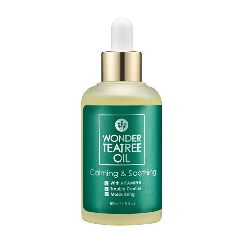 D'Ran Wonder Tea Tree Oil Formulated for Sensitive Skin Moisture Retention & Relieve Irritated Skin Helps with Acne Breakouts Nourish Scalp & Hair Roots Kbeauty Essential Korean Skincare by Liquivai