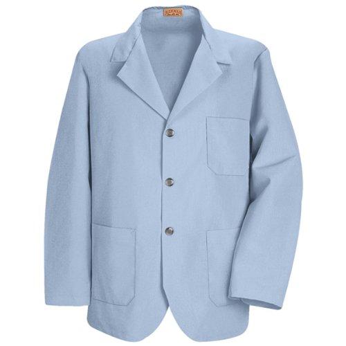 Red Kap Men's Lapel Counter Coat, Light Blue, Large