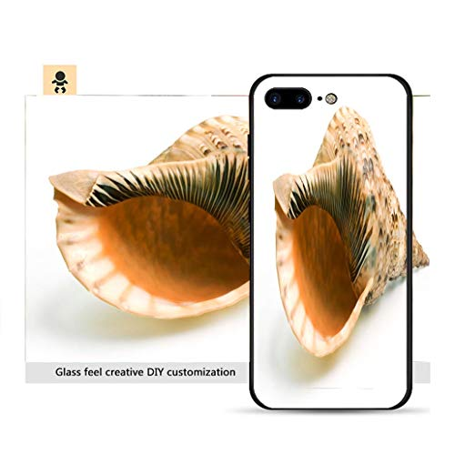 iPhone 7p / 8p Ultra-Thin Phone case Photo of a Tritons Trumpet Seashell on White Background Resistance to Falling, Non-Slip, Soft, Convenient Protective ()