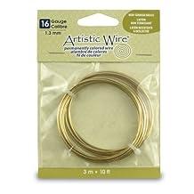 Artistic Wire 16-Gauge Non-Tarnish Brass Coil Wire, 10-Feet