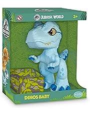 Dinossauro Jurassic World, Pupee, Velociraptor Baby Blue, 25 cm