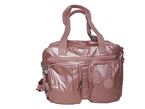 Kipling SASHA Travel Tote Bag - Icy Rose Metallic, 15.75'' x 11.25'' x 8.25'' by Kipling