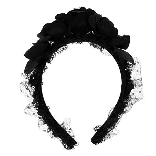 Lace Headband Gothic Headband Flower Headband Vintage Goth Steampunk Hair Accessories Hallloween Party Lady Costume