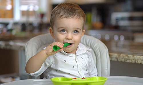 Olababy 100% Silicone Soft-Tip Training Spoon Teether for Baby Led Weaning 2pack by Olababy (Image #8)