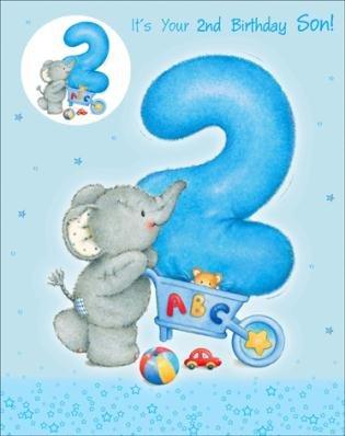 Happy 2nd birthday son elliot buttons birthday greetings card happy 2nd birthday son elliot buttons birthday greetings card m4hsunfo