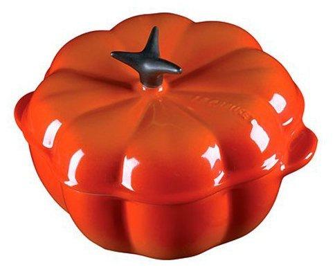 (Le Creuset Enameled Cast-Iron 2-1/4-Quart Pumpkin Casserole, Flame)