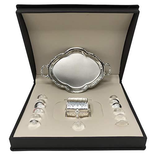 Premium 99.9 Pure Silver Wedding Arras 13 pcs with a Miniature Chest Box, a Medallion and a Brown Case. Wedding Unity Coins. Silver Wedding Unity Coins. Arras de Plata con Pureza .999 para Boda.
