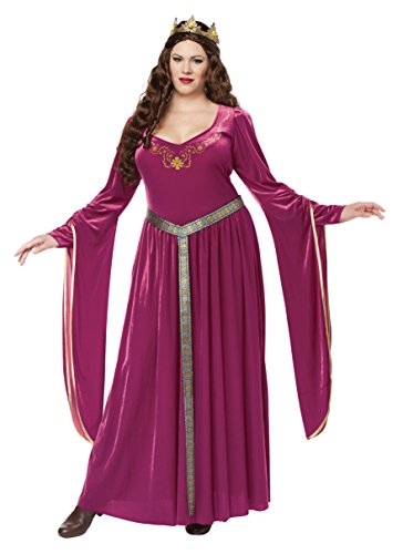 California Costumes Women's Size Lady Guinevereadult Plus-Berry,