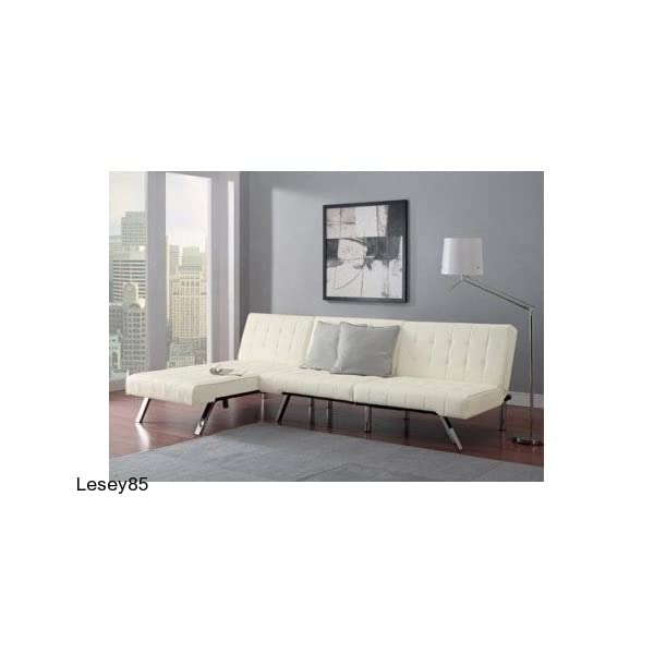 Leather Futon Chaise Lounger Convertible Sleeper Couch