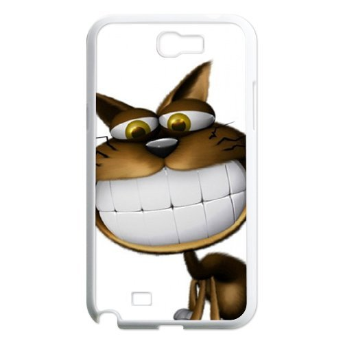 3d White Teeth Cat Wallpaper Phone Cases For Samsung Galaxy Note 2