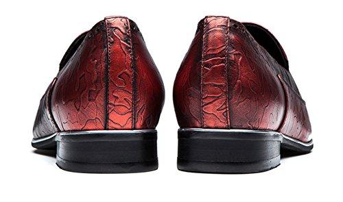 OPP OFFICIAL EU SHOP Business - Zapatillas de skateboarding de piel auténtica para hombre Vino