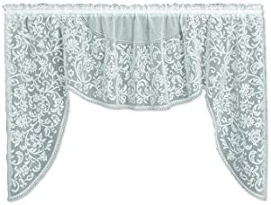 Heritage Lace White Eloquence 72 x38 Swag