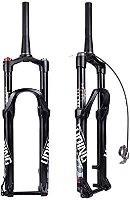 Horquilla de Carbono de Carbono - Suspensión Bicicleta MTB Horquilla Bloqueo Inteligente Ajuste de amortiguación, aleación de Aluminio Amortiguador neumático Horquilla: Amazon.es: Hogar