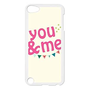 ZOEHOME Phone Case Of more on love you and me ,Hard Case !Slim and Light weight and won't fade, Scratch proof and Water proof.Compatible with All Carriers Allows access to all buttons and ports. for iPod Touch 5