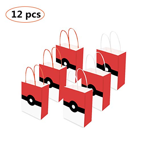 12PCS Video Gaming Party Gift Bags,loot bags, treat bags - Holiday Gift Bag - Goody Favor Bags for Kids Adults Birthday Party Game Themed Party Supplies -