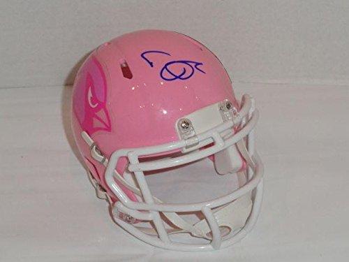 Deone Bucannon Autographed Mini Helmet - Pink Breast Cancer Proof - Autographed NFL Mini Helmets Autographed Pink Mini Helmet