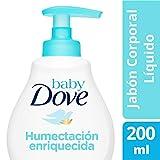 Baby Dove Jabón Líquido Corporal Humectación Enriquecida, 200 ml