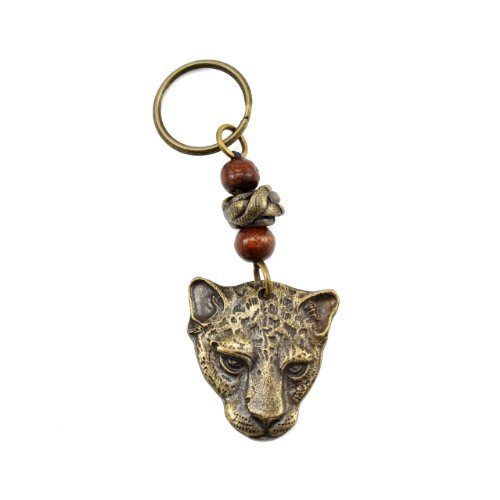 South African Fair Trade Leopard Brass Key Ring