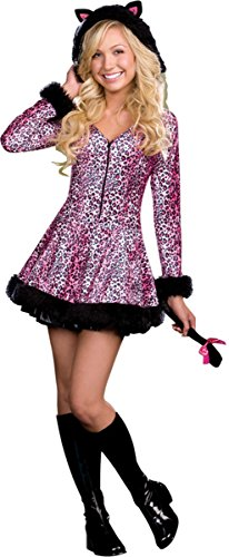 Dreamgirl Teen Pretty Lil Kitty Dress, Pink/Black, (Pretty Dresses For Teens)