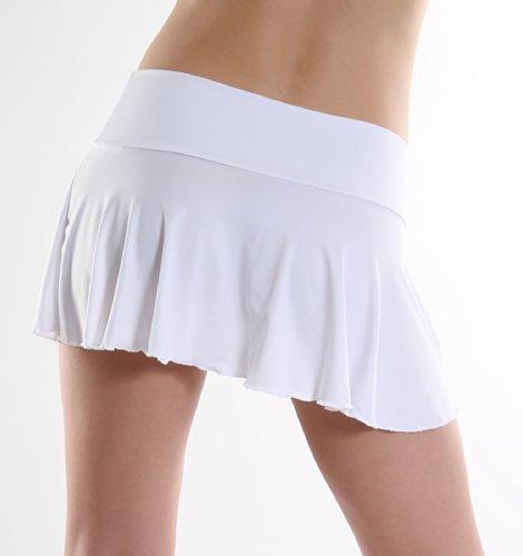 in annsfashion cintura poliestere gonna Weiß con Mini UHqpRE
