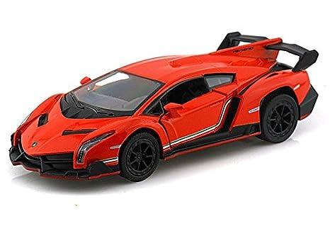 Amazon Com Lamborghini Veneno 1 36 Orange Toys Games