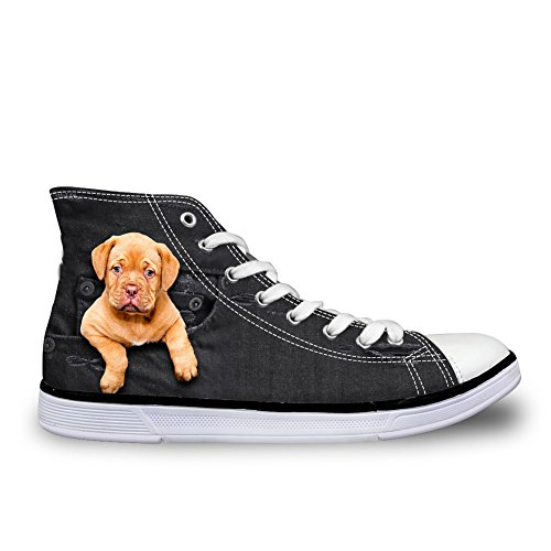 Flat Pattern Women Shoes Animal High Cute for Coloranimal 2 Denim Dog Canvas Cat Dog top qSIw0F