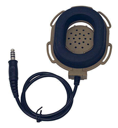 Coodio Midland Radio Headset 2 Pin Tactical [Military Army Outdoor Sports] [Heavy Duty] Headphone [Boom Microphone] [Noise Cancelling] Earpiece For 2-Pin Midland X-TALKER Walkie Talkie Two Way Radio by Coodio (Image #3)