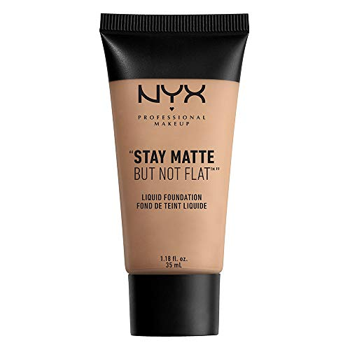 NYX PROFESSIONAL MAKEUP Stay Matte but not Flat Liquid Foundation, Soft Sand, 1.18 Fluid Ounce