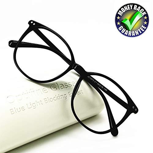 Price comparison product image Reading Glasses Anti Blue Light Blocking Reader Women Men for Mid Big Face (Black,  0.75)