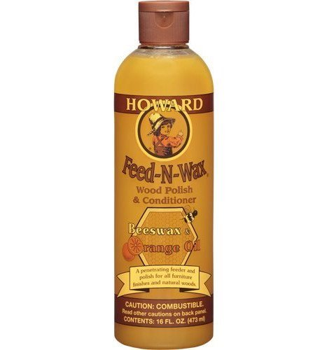 Howard Feed-n-Wax Wood Polish & Conditioner Beeswax Polish 16oz (2) by Howard