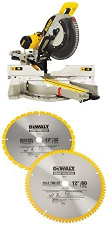 DEWALT DW3128P5 Series 20 12-Inch 80 Tooth and 12-Inch 32T ATB Thin Kerf Cros...