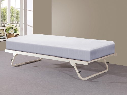Amazon.com: Memphis 3ft Single Day Bed with Trundle - Ivory ...