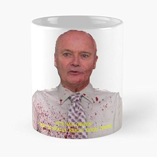 Creed Bratton The Office Halloween Insane - 11 Oz Coffee Mugs Unique Ceramic Novelty Cup, The Best Gift For Halloween. -