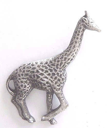 (Giraffe Pewter Brooch Pin Badge)