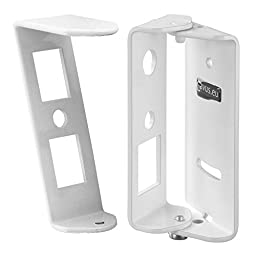 Cavus Swivel Wall Mount with Tilt for Sonos Play 1 Surround Sound System, White