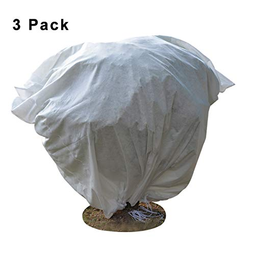 Blue_Stone Plant Covers Frost Protection Bag Winter Reusable Plants Jacket with 3 Style 3 Pack 23″ x 31″ 2 Pack 39″ x 39″ 1 Pack 70″ x 63″ (3 Pcs 23″ x 31″)