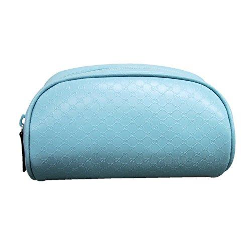 Gucci Women's Blue PVC GG Cosmetic Bag 277652 (Gucci Ladies Bags)