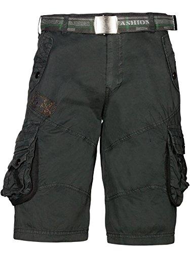 foncé Bermuda Ceinture Cargo en Army Incl Short gris Shorts Trisens coton Summer EqwRnPx1