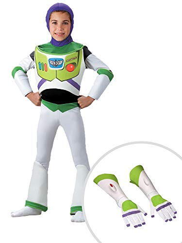 Toy Story Buzz Lightyear Costume Kit Kids Toddler 3T-4T With Gloves -