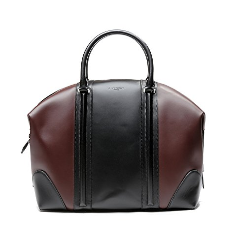 Givenchy Women's Color Blocked Real Leather Tote Handbag One Size Black and Wine by Givenchy (Image #1)