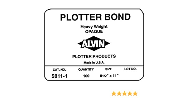 Alvin Heavyweight Opaco Plotter Bond - Paquete de 50 hojas 18