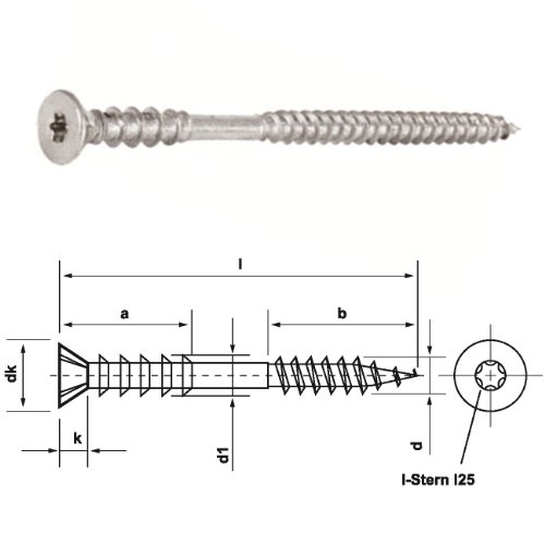 Dresselhaus Cylindrical Screws with Slotted Head and Nut Galvanised M 6/x 25/Pack of 25