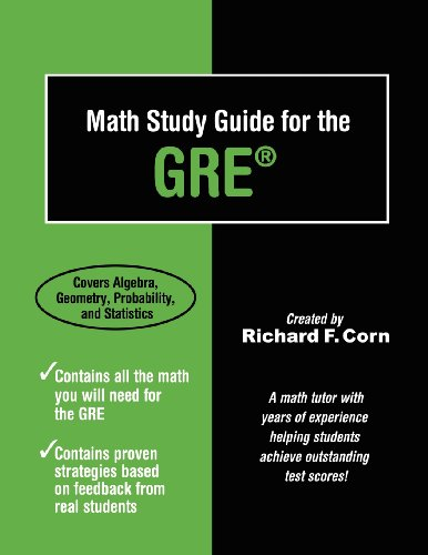 Math Study Guide for the GRE (Paperback)-cover