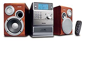 Philips MCM390 MP3 Micro Hi-Fi System - Microcadena (Lógica, Auto Store, Azul, LCD, 3,5 mm, Cinta)