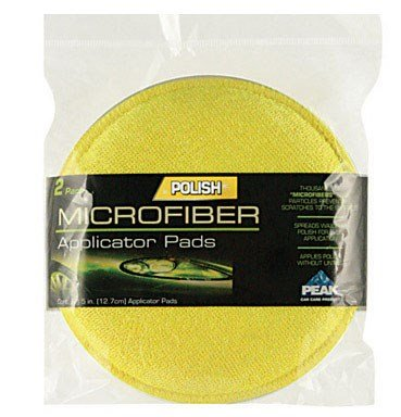 Peak Microfiber Applicator Pads 5'' Dia. 2 / Pk